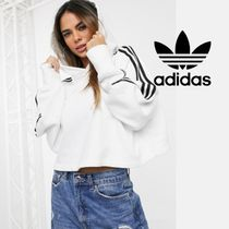 adidas Short Street Style Long Sleeves Plain Cotton Cropped