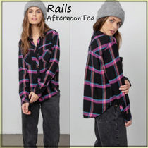 Rails Other Check Patterns Blended Fabrics Long Sleeves Medium