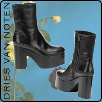Dries Van Noten Square Toe Platform Round Toe Rubber Sole Casual Style