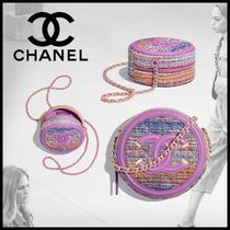 CHANEL Casual Style Calfskin Chain Party Style Elegant Style