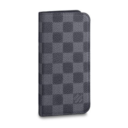 Louis Vuitton Smart Phone Cases Other Check Patterns Unisex Blended Fabrics Leather 2