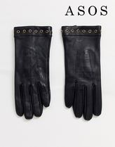 ASOS Plain Leather Leather & Faux Leather Gloves