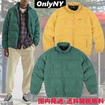 ONLY NY Stand Collar Coats Unisex Blended Fabrics Street Style Plain