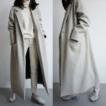 Stand Collar Coats Casual Style Street Style Long