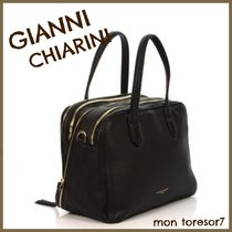 GIANNI CHIARINI 2WAY Plain Leather Elegant Style Handbags