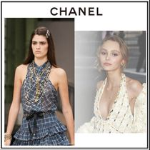 CHANEL Other Plaid Patterns Silk Blended Fabrics Sleeveless