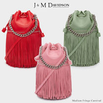 J & M Davidson Carnival Casual Style Calfskin Suede Blended Fabrics Studded 2WAY