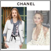 CHANEL Other Plaid Patterns Flower Patterns Silk Blended Fabrics