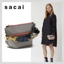 sacai Casual Style 2WAY 3WAY Plain Leather Shoulder Bags