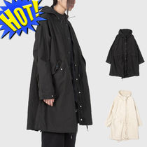 Raucohouse Unisex Street Style Plain Long Parkas