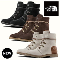 THE NORTH FACE Lace-up Casual Style Unisex Suede Elegant Style