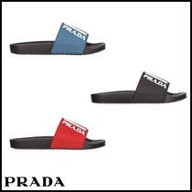 PRADA Shower Shoes Logo Shower Sandals