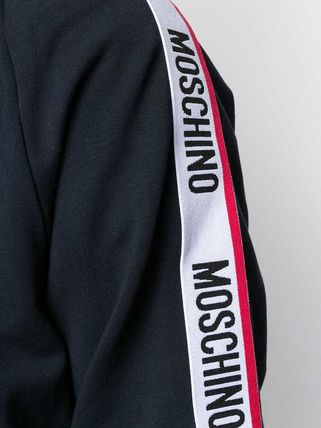 Moschino Hoodies Long Sleeves Cotton Logos on the Sleeves Hoodies 6