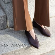 Malababa Casual Style Plain Leather Handmade Office Style