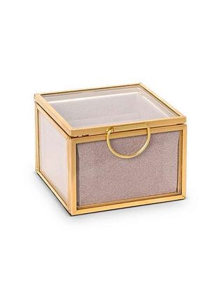 Unisex Jewelry Organizer Gold Furniture Clear Furniture