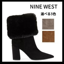 Nine West Mountain Boots Casual Style Faux Fur Blended Fabrics