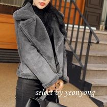 Plain Medium Cashmere & Fur Coats