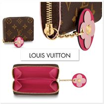 Louis Vuitton ZIPPY COIN PURSE Monogram Chain Leather Coin Purses