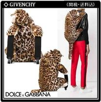 Dolce & Gabbana Leopard Patterns Casual Style Blended Fabrics Backpacks