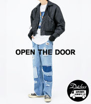 OPEN THE DOOR Street Style Plain Cotton Jeans