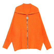 Cable Knit Casual Style Unisex Wool Rib Dolman Sleeves