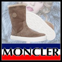 MONCLER Round Toe Rubber Sole Casual Style Suede Plain