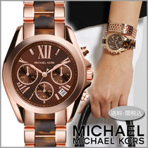 Michael Kors Casual Style Blended Fabrics Round Quartz Watches Stainless