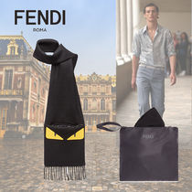 FENDI BAG BUGS Wool Fringes Scarves
