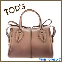 TOD'S D-Styling 2WAY Plain Leather Elegant Style Handbags