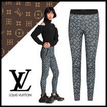 Louis Vuitton Monogram Casual Style Nylon Long Skinny Pants