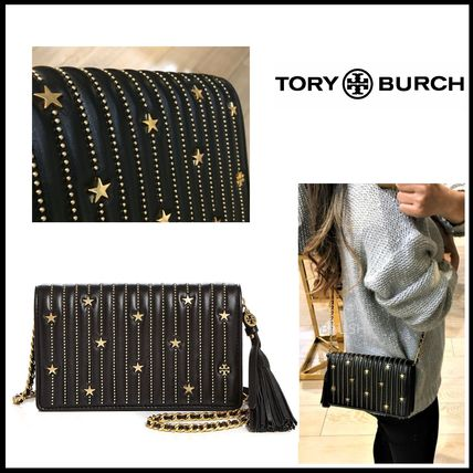 2WAY Chain Leather Party Style Elegant Style Shoulder Bags