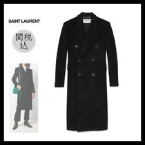 Saint Laurent Casual Style Wool Plain Long Party Style Office Style