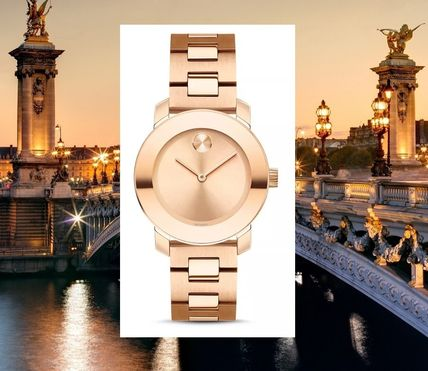 Casual Style Round Quartz Watches Formal Style