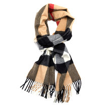 Burberry Other Plaid Patterns Unisex Cashmere Knit & Fur Scarves