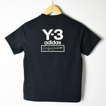 Y-3 Crew Neck Unisex Street Style Short Sleeves T-Shirts