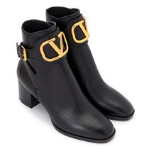 VALENTINO VLOGO Leather Logo Boots Boots