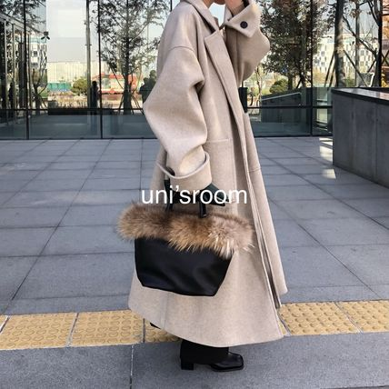 Casual Style Wool Plain Long Party Style Office Style