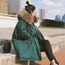 Casual Style Faux Fur Plain Medium Oversized Elegant Style