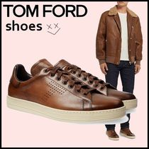 TOM FORD Plain Leather Sneakers