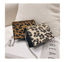 Leopard Patterns Casual Style Faux Fur Street Style Chain