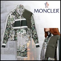 MONCLER Casual Style Silk Long Sleeves Medium Elegant Style