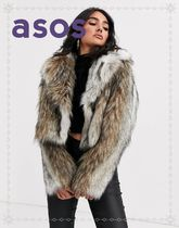 ASOS Short Faux Fur Plain Cashmere & Fur Coats