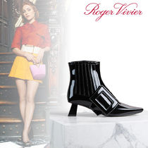 Roger Vivier Enamel Leather Ankle & Booties Boots