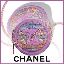 CHANEL Chain Plain Party Style Elegant Style Clutches