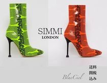 SIMMI Casual Style Faux Fur Street Style Pin Heels
