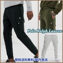 POLO RALPH LAUREN Tapered Pants Sweat Street Style Plain Cotton Tapered Pants