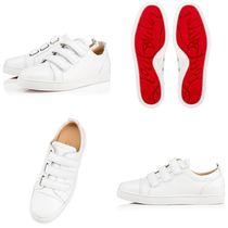 Christian Louboutin Street Style Leather Handmade Sneakers