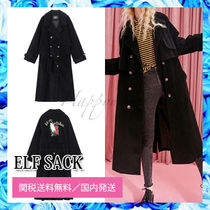 ELF SACK Casual Style Street Style Long Office Style Elegant Style