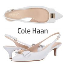 Cole Haan Casual Style Leather Pin Heels Python Elegant Style