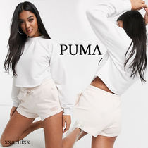 PUMA Short Casual Style Street Style Plain Cotton